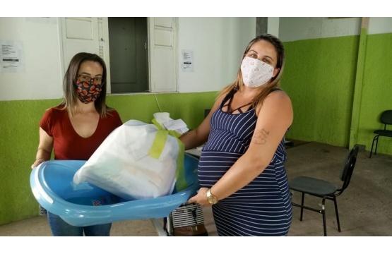 Secretaria de Desenvolvimento e Assistência Social entrega Kit para gestantes